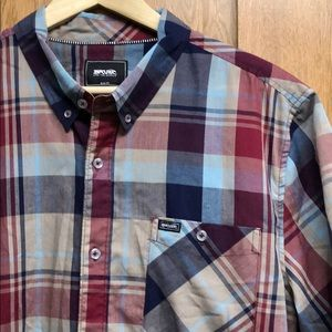 NWOT Rip Curl Plaid Casual Shirt 🏄